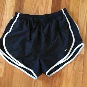 Black Nike dri-fit lines shorts